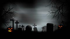 Halloween Graveyard Background Loop Stock Footage