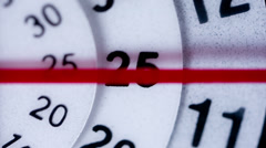 Clock face extreme macro Stock Footage