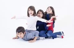 large family - stock photo