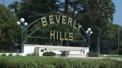 Beverly Hills Signboard Stock Footage