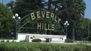 Stock Video Footage of Beverly Hills Signboard
