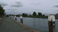 pan Schiedam Voorhaven (booze harbour) to Rotterdam fruit terminal + Waalhaven - stock footage