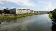 Stock Video Footage of Florence city and river Arno, Italy, Tuscany