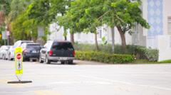 Pedestrian crosswalk Stock Footage