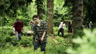 Stock Video Footage of Walking Dead Zombies