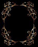 Tattoo tribal gold frame vector art Stock Illustration