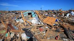 Moore Oklahoma, EF5 Tornado damage & aftermath PT10 - stock footage