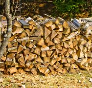 Stock Photo of firewood - detail