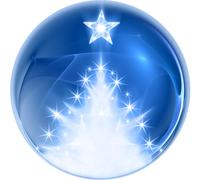 Stock Illustration of blue abstract christmas ball