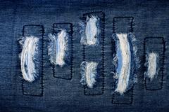 piece of fabric with fringe on white.. - stock photo