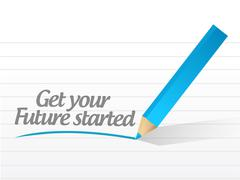 Get your future started Stock Illustration