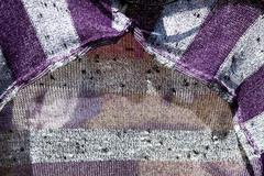close up abstract view of knitted garment - stock photo