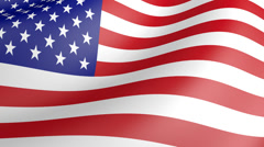 3D Realistic American Waving Flag Stock Footage