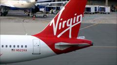 Virgin America Airlines Logo Stock Footage