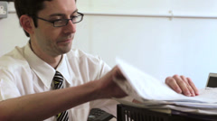 Office worker under pressure Stock Footage