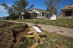 Moore Oklahoma, EF5 Tornado damage & aftermath PT11 - stock photo