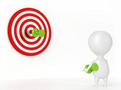Thumbtack, Target and Character Stock Illustration