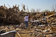 Moore Oklahoma, EF5 Tornado damage & aftermath PT17 - stock photo
