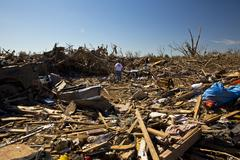 Moore Oklahoma, EF5 Tornado damage & aftermath PT18 - stock photo