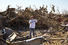 Moore Oklahoma, EF5 Tornado damage & aftermath PT19 - stock photo