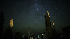 Mono Lake Perseid Meteor Shower 01 Milky Way Time Lapse Stock Footage