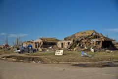 Moore Oklahoma, EF5 Tornado damage & aftermath PT23 - stock photo