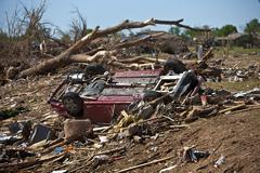 Moore Oklahoma, EF5 Tornado damage & aftermath PT33 - stock photo