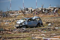 Moore Oklahoma, EF5 Tornado damage & aftermath PT35 - stock photo
