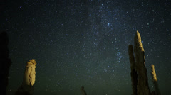 Mono Lake Perseid Meteor Shower 04 Dolly R Milky Way CU Time Lapse Stock Footage