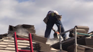 Stock Video Footage of New Home Building boom, roofer contractor