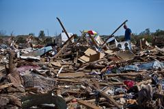 Moore Oklahoma, EF5 Tornado damage & aftermath PT39 - stock photo