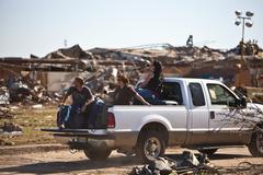 Moore Oklahoma, EF5 Tornado damage & aftermath PT44 - stock photo