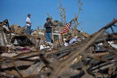 Moore Oklahoma, EF5 Tornado damage & aftermath PT45 - stock photo