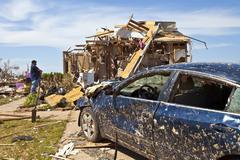 Moore Oklahoma, EF5 Tornado damage & aftermath PT49 - stock photo