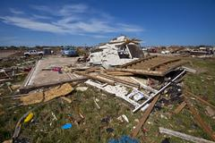 Moore Oklahoma, EF5 Tornado damage & aftermath PT52 - stock photo