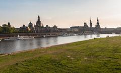 Embankment of the Elbe river - stock photo