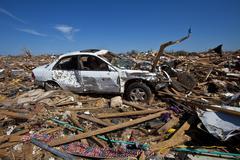 Moore Oklahoma, EF5 Tornado damage & aftermath PT62 - stock photo