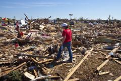 Moore Oklahoma, EF5 Tornado damage & aftermath PT64 - stock photo