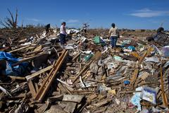Moore Oklahoma, EF5 Tornado damage & aftermath PT66 - stock photo