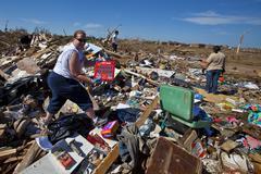Moore Oklahoma, EF5 Tornado damage & aftermath PT67 - stock photo