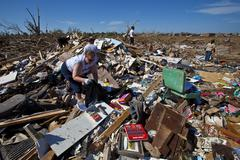 Moore Oklahoma, EF5 Tornado damage & aftermath PT68 - stock photo