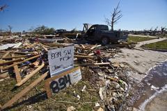 Moore Oklahoma, EF5 Tornado damage & aftermath PT71 - stock photo