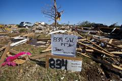 Moore Oklahoma, EF5 Tornado damage & aftermath PT72 - stock photo