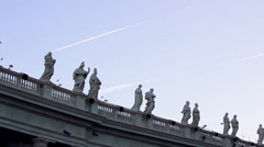 TRAIL PLANE ON SAINT PETER'S SQUARE Stock Footage