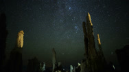 Stock Video Footage of 4K Mono Lake Perseid Meteor Shower 03 Zoom In Milky Way Time Lapse