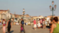 People walking in Venice, Italy - background blur Stock Footage
