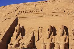 The great temple of abu simbel, nubia Stock Photos