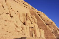 the great temple of abu simbel, nubia - stock photo
