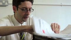 Office worker under pressure - stock footage