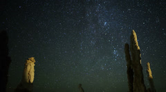 4K Mono Lake Perseid Meteor Shower 05 Dolly R Milky Way Time Lapse Stock Footage